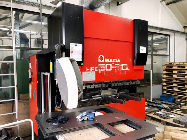 CNC Press Brake Amada AMADA HFE 50-20L second hand, new in 2001. Sold!