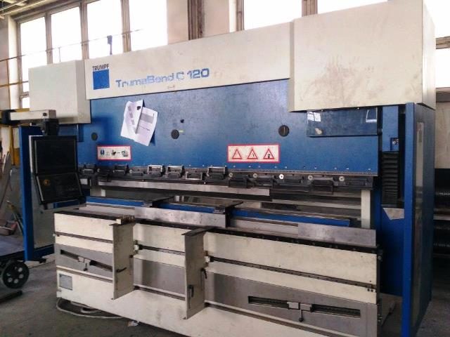 CNC Press Brake Trumpf TRUMABEND C120 second hand, new in 2006.