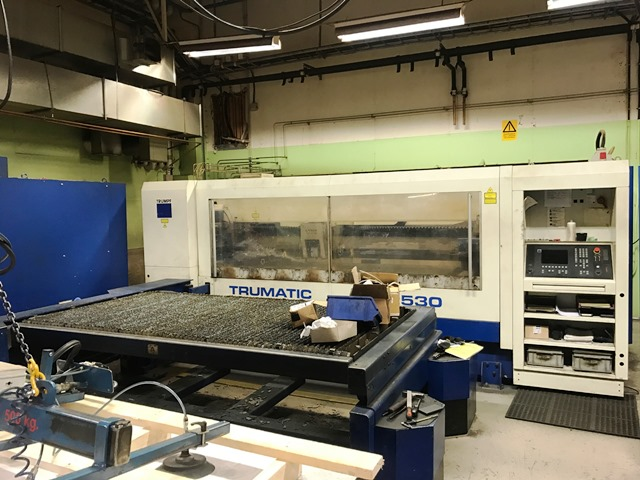 CNC Laser cutting center Trumpf TRUMATIC L 2530 second hand, new in 2002.