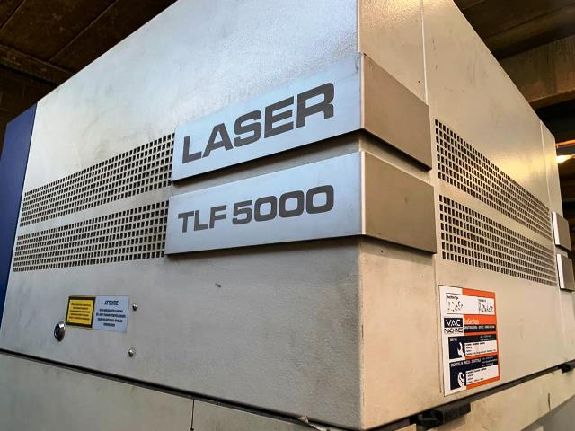 Laser cutting center Trumpf TRUMATIC L 3050, used, new in 2002. Sold!